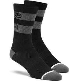 100% Flow Chaussettes, black/grey